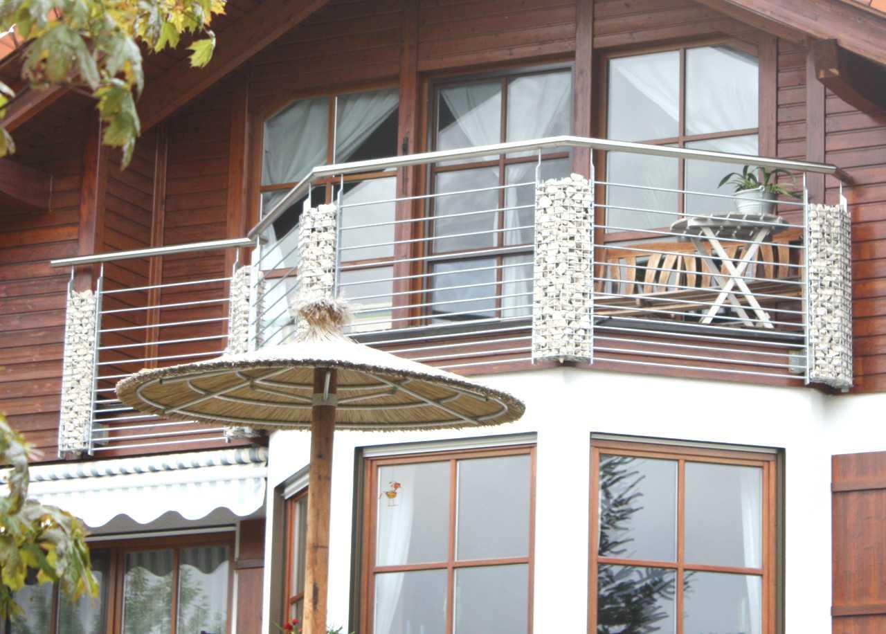 balkongel nder edelstahl und milchglas die neueste. Black Bedroom Furniture Sets. Home Design Ideas