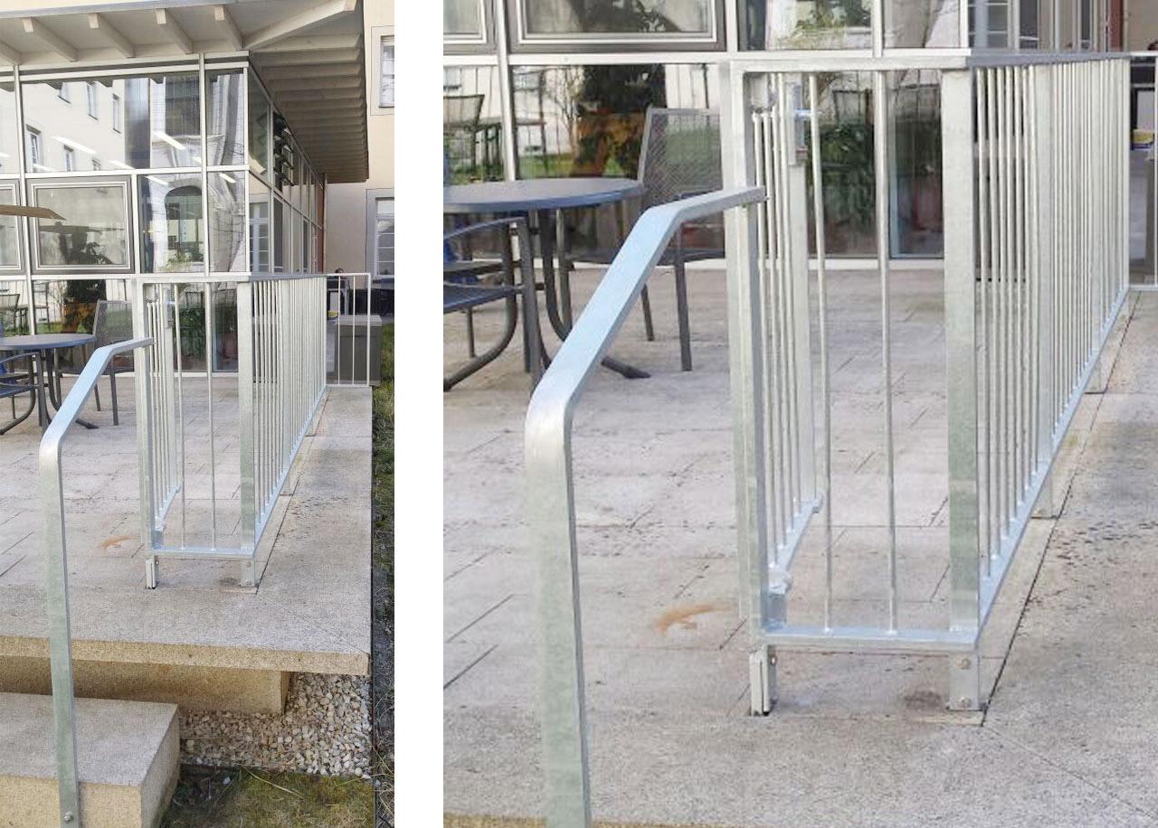 gelnder mit treppenhandlauf feuerverzinktes terassengelnder mit handlauf an treppe edenstahlhandlauf edenstahlhandlauf - Terrassen Gelander Design