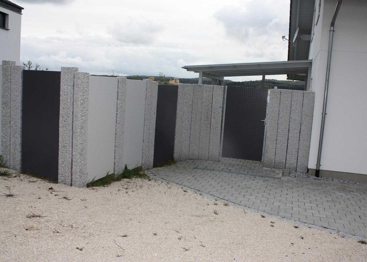 Collection Sichtschutz Tor Holz Granit